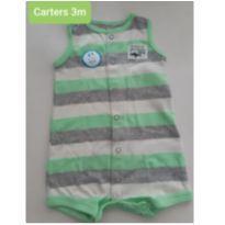 BODY ROMPER REGATA TUBARÃO CARTERS - 3 meses - Carter`s