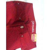 calça Aeropostale vermelha com ziper na perna com elastano - 11 anos - Aéropostale