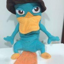 Boneco Perry Ornitorrinco- Desenho Phineas E Ferb-pelúcia - Sem faixa etaria - Disney