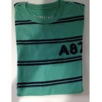 Camiseta Aeropostale original listrada - 14 anos - Aeropostole