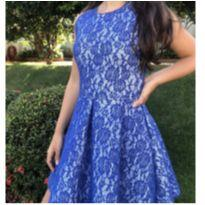 Vestido de  festa  Renda - 14 anos - Rosa Chá