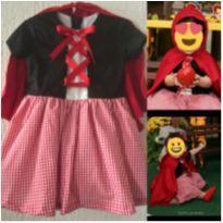 Vestido Chapeuzinho Vemelho - 1 ano - Costureira