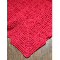 Manta de crochê vermelha divina! - Sem faixa etaria - Artesanal
