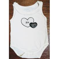 Body regata coração charmoso - 0 a 3 meses - Mini & Kids