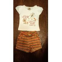 Conjunto conforto laranja - 6 a 9 meses - Nini e Bambini