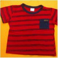 Camiseta vermelha traços - 1 ano - Alakazoo!