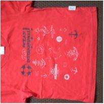 Camiseta ocean vermelha - 1 ano - Alakazoo!