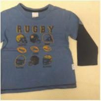 Camiseta manga longa rugby - 1 ano - Alakazoo!