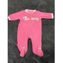Macacão pink Carter`s atoalhado Mommy - Recém Nascido - Carter`s