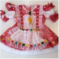 Vestido caipira baby - 6 a 9 meses - Não informada