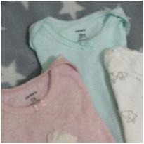 Kit body manga curta coelhinhos - 12 a 18 meses - Carter`s