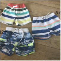 Kit shorts praia e piscina - 6 meses - Carter`s