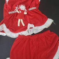 Pijama NOVO bonequinha vermelho - 18 a 24 meses - Não informada
