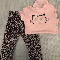Conjunto Carters body e calça oncinha - 6 a 9 meses - Carter`s e Child of Mine