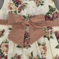 Vestido festa bebê Floral M - 6 a 9 meses - Sem marca