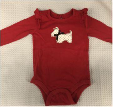 Body bordado vermelho Gap - 9 meses - Baby Gap