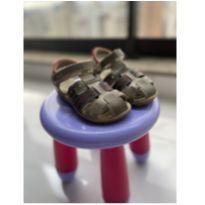 Sandália de couro menino quase nova tamanho 24 - 24 - Kidy