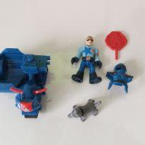 Imaginext City - Policial e cachorro