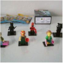 Kit 3 minifigures lego simpsons + 3 mini figures diversas -  - Lego e Lego similar