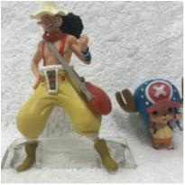 Action Figure Tony chopper 4 cm e usopp 8 cm One Piece -  - Não informada