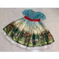 Vestido princesa para 1 ano