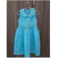 Vestido Primavera Azul - 3 anos - yellow bug