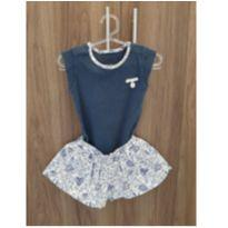 Body Azul Marinho com Shorts - 3 a 6 meses - Noruega Baby