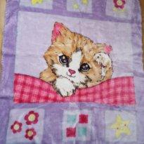 Cobertor Gatinha Feliz Jolitex - Sem faixa etaria - jolitex