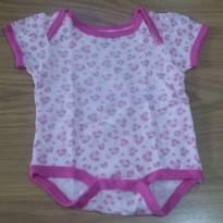 Bodie oncinha rosa Bon Bébé - 0 a 3 meses - bon bébé