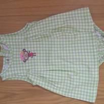 Vestido bodie 24 meses xadrez verde com macaquinho - 2 anos - Child of Mine