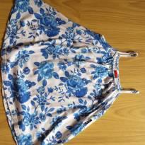 Vestido branco com flores azuis Kyly - 3 anos - Kyly