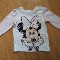 Camiseta manga longa Minie H&M 9 a 12meses - 9 a 12 meses - H&M