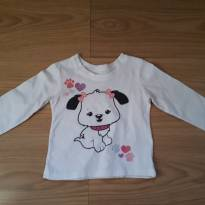 Camiseta The Children`s Place 12m cachorrinho - 9 a 12 meses - The Children`s Place