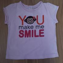 Camiseta rosa Carter`s 12m You Make Me Smile - 9 a 12 meses - Child of Mine
