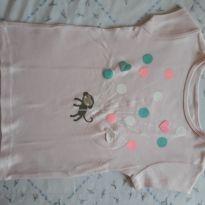 Camiseta Carter`s macaco rosa bebê. - 4 anos - Carter`s