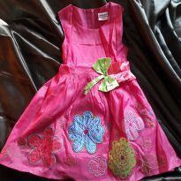 Vestido rosa 4 - 4 anos - Não informada
