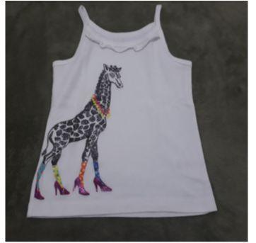 Regata Carter`s off white girafa 3t - 3 anos - Carter`s