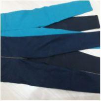 Kit 3 calças legging - 5 anos - Não informada