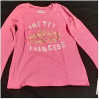 Camiseta Oshkosh rosa pink com esrampa de brilh,o nova! - 4 anos - OshKosh