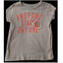 Camiseta Carter`s 4t salmão claro - 4 anos - Carter`s