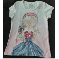 Camiseta branca menininha 6 - 4 anos - LX Têxtil