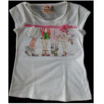 Camiseta branca com rendinhas 4 - 3 anos - Just for You