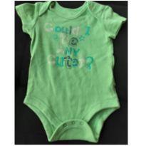 Body verde Faded Glory  3/6meses - 3 a 6 meses - Faded Glory (EUA)