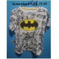 Camiseta Batman - 6 anos - DC Comics