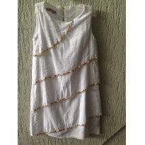vestido branco bordado - 4 anos - Que te encante