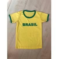 camiseta Brasil - 6 anos - Não informada