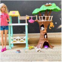 Casa Barbie Arvore Profissões Com Boneca E Acessórios -  - Mattel