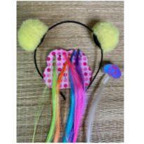 3 acessórios cabelo  neon
