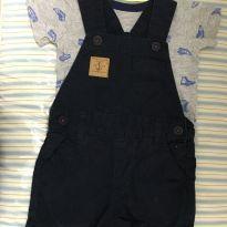 Camiseta carter's e jardineira baby club - 3 a 6 meses - Carter`s e Baby Club