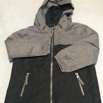 Jaqueta de nylon com capuz - 4 anos - Não informada